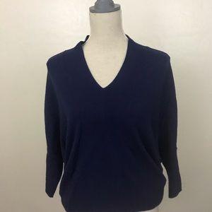 All Saints Cashmere Blend Short Slv V-neck Sweater